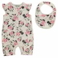 Character Short Sleeve Romper Set Babies Minnie Mouse Детско облекло с герои