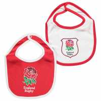 Team Комплект Два Лигавника Rugby Football Union Two Pack Baby Bibs England RFU Футболни аксесоари