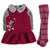 Disney Сет За Бебе В 3 Части 3 Piece Set Baby Minnie Cord Drs Детски поли и рокли