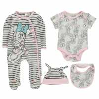Disney 4 Piece Romper Set Babies Minnie Mouse Бебешки дрехи