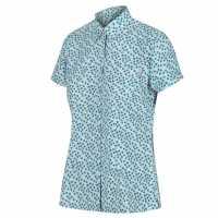 Regatta Womens Mindano V LilacBlmChk Дамски ризи и тениски