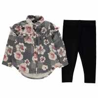 Firetrap Бебешки Комплект Момичета 2 Piece Frill Blouse Set Baby Girls Rose Check Детски ризи