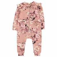 Firetrap Бебешко Костюмче За Момиче Romper Suit Baby Girls Blush Floral Бебешки дрехи