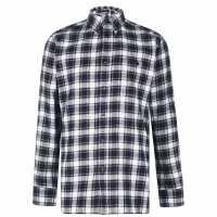 Pierre Cardin Карирана Риза Дълъг Ръкав Long Sleeve Check Shirt Mens Charc/Off Wht Мъжки ризи
