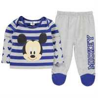 Character Пижама Комплект Унисекс За Бебе Pyjama Set Unisex Baby Mickey Mouse Детско облекло с герои
