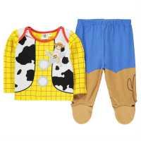Character Пижама Комплект Унисекс За Бебе Pyjama Set Unisex Baby Woody Детско облекло с герои