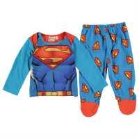 Character Пижама Комплект Унисекс За Бебе Pyjama Set Unisex Baby Superman Детско облекло с герои