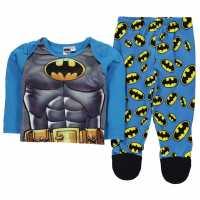 Character Пижама Комплект Унисекс За Бебе Pyjama Set Unisex Baby Batman Детско облекло с герои