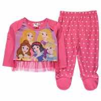 Character Пижама Комплект Унисекс За Бебе Pyjama Set Unisex Baby Disney Princess Детско облекло с герои