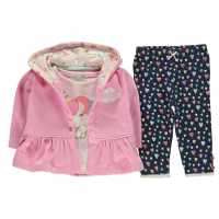 Crafted Mini 3 Piece Jacket Set Babies BG Pink Jacket Детски полар