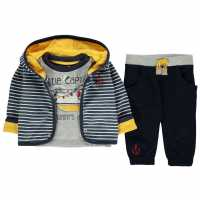 Crafted Mini 3 Piece Jacket Set Babies BB Navy Jacket Детски полар