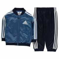 Adidas Спортен Екип За Бебе 3 Stripe Tracksuit Baby Boys Blue/Navy/Wht Детски спортни екипи