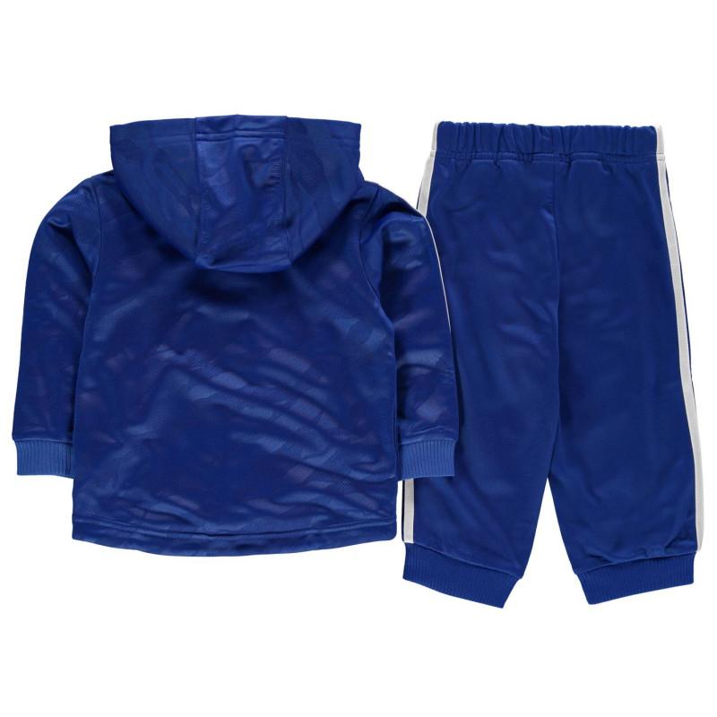 3aa41ae1941 Adidas Shiny Full Zip Hoody Tracksuit Baby Blue/White Детски полар