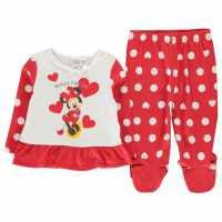 Character Pyjama Set Baby Minnie Xmas Детско облекло с герои