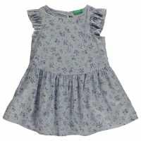 Benetton Флорална Риза Junior Girls Floral Shirt Blue Детски ризи