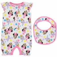 Character Short Sleeve Romper Set Baby Minnie Mouse Детско облекло с герои