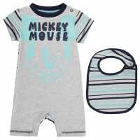 Character Short Sleeve Romper Set Baby Mickey Mouse Детско облекло с герои