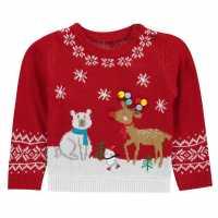 The Spirit Of Christmas Chritmas Jumper Bb 94 Red Fairaisle Детски горнища и пуловери