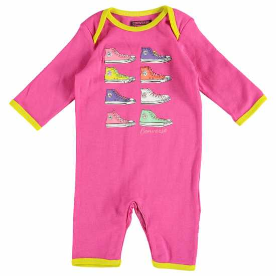 Converse Romper Suit Baby Cosmos Pink Бебешки дрехи