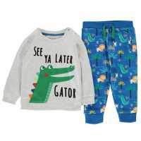 Crafted Essentials Infant Boys 2 Pack Jog Set Grey Marl Бебешки дрехи