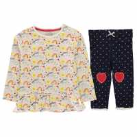 25755121544 Crafted Essentials Infant Girls 2 Pack Jersey Set Multi Rainbow Бебешки  дрехи