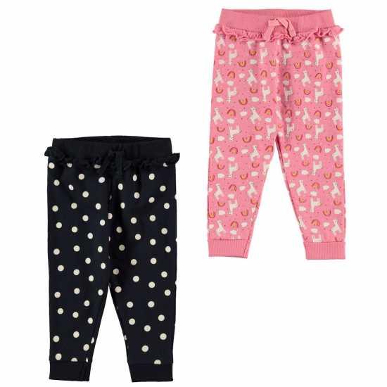 Crafted Essentials Бебешки Комплект Момичета 2 Piece Jogger Set Baby Girls  Детски долнища на анцуг
