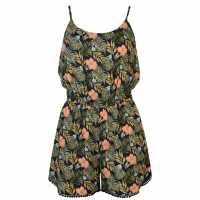 Golddigga Print Playsuit Ladies Navy Дамски къси панталони