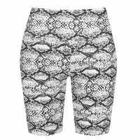 Golddigga Дамски Шорти Waisted Cycle Shorts Womens Snake Дамски къси панталони