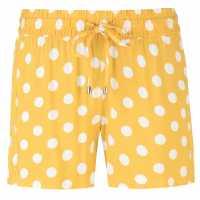 Jdy Дамски Шорти Star Shorts Ladies Mustard/Wht Dot Дамски къси панталони
