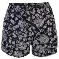 Golddigga Дамски Шорти Print Shorts Ladies Black Дамски поли и рокли