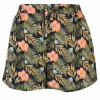 Golddigga Дамски Шорти Print Shorts Ladies Navy Дамски поли и рокли