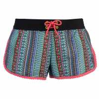 Hot Tuna Дамски Шорти Caribbean Shorts Ladies Black Multi Дамски къси панталони
