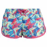 Hot Tuna Дамски Шорти Caribbean Shorts Ladies Palm Multi Дамски къси панталони