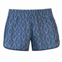 Hot Tuna Дамски Плувни Шорти Printed Swim Shorts Ladies Electric Blue Дамски бански