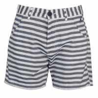 Kangol Дамски Шорти Stripe Shorts Ladies White/Navy Дамски панталони тип Чино