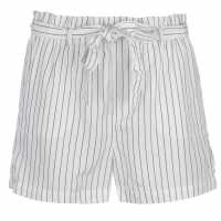 Kangol Дамски Шорти Paper Bag Shorts Ladies White/Navy Дамски панталони тип Чино