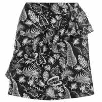 Golddigga Дамска Пола Frill Skirt Ladies Black/White AOP Дамски поли и рокли