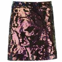 Golddigga Дамска Пола Velvet Sequin Skirt Ladies Multi Дамски поли и рокли