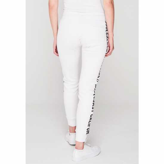 Soulcal Side Branded Jogging Bottoms White Дамски полар
