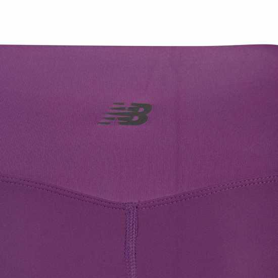 New Balance Matte Shne Pant Ldsc99 Amaranth Purple Дамски клинове за фитнес