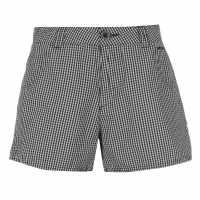 Kangol Дамски Шорти Gingham Shorts Ladies White/Navy Дамски панталони тип Чино