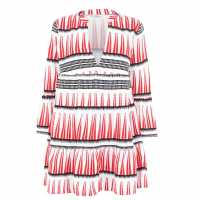 Only Woven Dress Blk/Wht/Red Дамски поли и рокли
