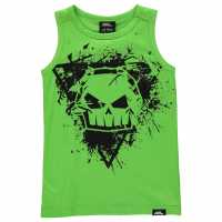 No Fear Graphic Vest Junior Green Skull Детски потници