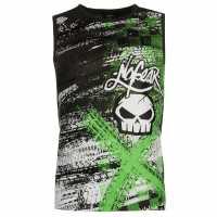 No Fear Graphic Vest Mens Black Tyres Мъжки тениски и фланелки