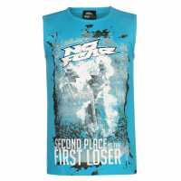 No Fear Graphic Vest Mens Blue FirstLoser Мъжки тениски и фланелки
