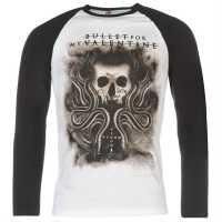 Official Мъжка Блуза Bullet For My Valentine Raglan Long Sleeve T Shirt Mens