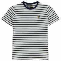 Lyle And Scott Тениска Breton Stripe T Shirt Deep Indigo Детски тениски и фланелки