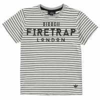 Firetrap Детска Тениска Къс Ръкав Short Sleeve T Shirt Junior Boys Black Stripe Детски тениски и фланелки