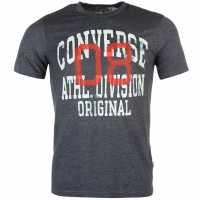 Converse Тениска Athletic T Shirt Navy Heather Мъжки тениски и фланелки