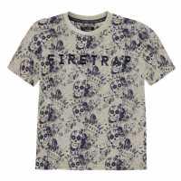 Firetrap Детска Тениска Къс Ръкав Short Sleeve T Shirt Junior Boys Skull AOP Детски тениски и фланелки